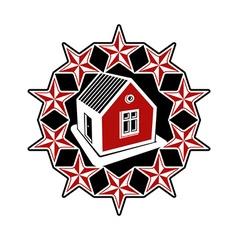 Solidarity idea branding icon simple house vector