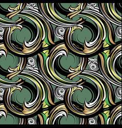 spirals baroque seamless pattern modern vector image