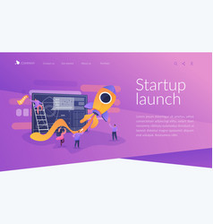 Start up landing page concept vector
