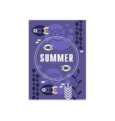 Summer banner template trendy seasonal blue vector