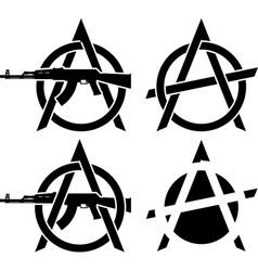Symbols anarchy vector
