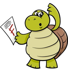 Turtle with f mark cartoon vector