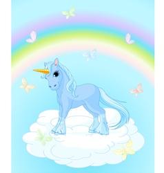 Unicorn on the sky vector