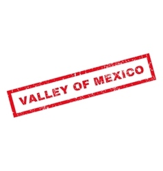 Valley Of Mexico Rubber Stamp vector
