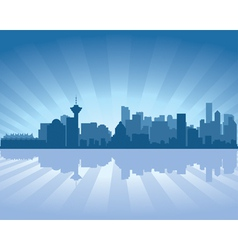 vancouver skyline vector image
