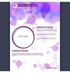 Vertical business brochure for design vector image