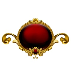 Vintage frame red vector image