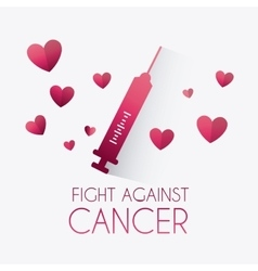 Against breast cancer campaign vector image
