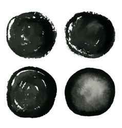 hand drawn grunge circles ink watercolor banner vector image vector image