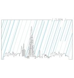 Isolated skyline of du vector