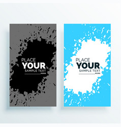abstract watercolor splash banners set vector image vector image