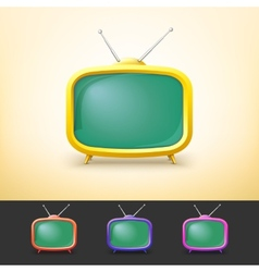 Color TV set in cartoon style vector image vector image