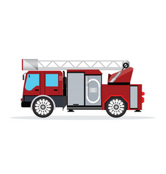 fire truck isolated on white vector image vector image