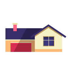 house in flat country cottage vector image
