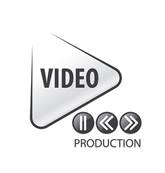logo in the form of the play button vector image