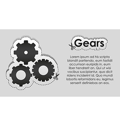 Tag lines and image cut gears vector image