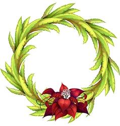 Decorative floral laurel vector image