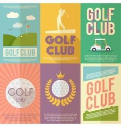 Golf poster set vector
