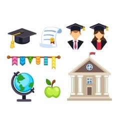 Graduation education symbols vector image