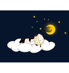 sheep sleeping vector image vector image