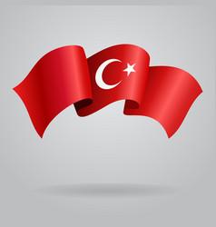 Turkish waving Flag vector image vector image