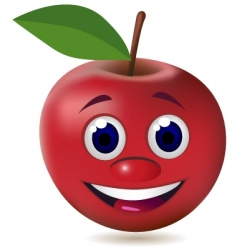 apple character vector image