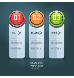 Colorful options banner template vector image vector image