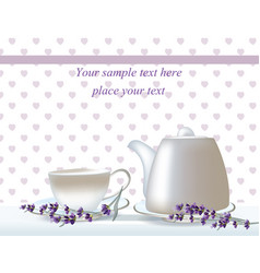delicate tea time card herbs banners with vector image vector image