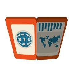 Passport immigration document id shadow vector