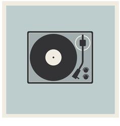 Retro Background TurnTable vinyl record player vector image