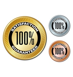 satisfaction guaranteed labels vector image vector image