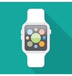 Smart watch flat icon vector image vector image