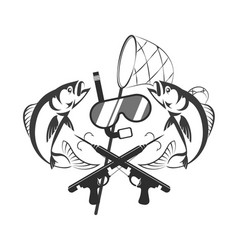 spearfishing concept design vector image