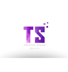 ts t s pink alphabet letter logo combination with vector image vector image