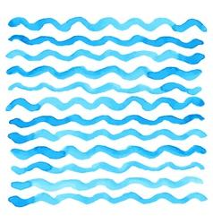 watercolor wave pattern vector image vector image