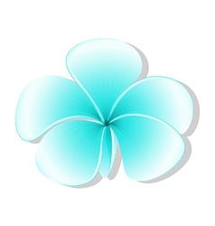 A light blue flower vector