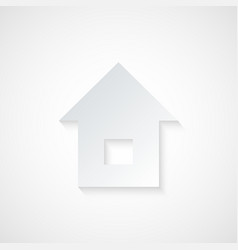 Abstract Paper Home Icon vector image