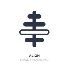 Align icon on white background simple element vector
