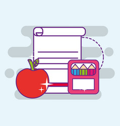 Back to school supply vector