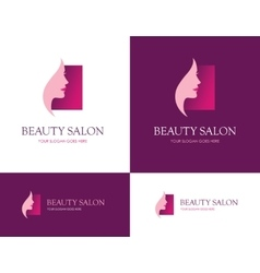 Beauty salon square logo vector