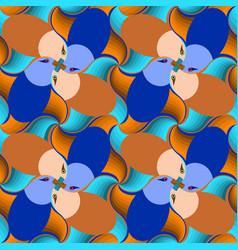 Bright birds seamless pattern escher style vector