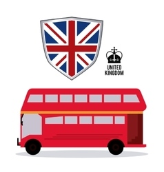 bus icon United kingdom design graphic vector image