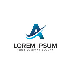 cative modern letter a logo design concept vector image