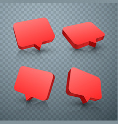 chat red set art frame text vector image