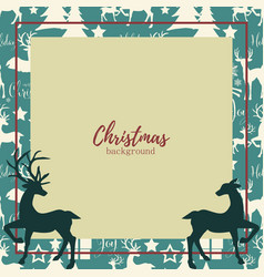 christmas elements background vector image