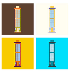 City skyscrapers buildings urban design vector