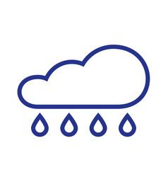 cloud rain symbol rain icon in flat style vector image