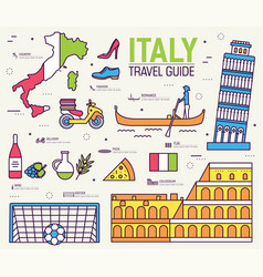 country italy travel vacation guide of goods vector image