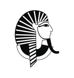 Egyptian pharaoh icon simple style vector