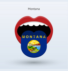 Electoral vote of montana abstract mouth vector